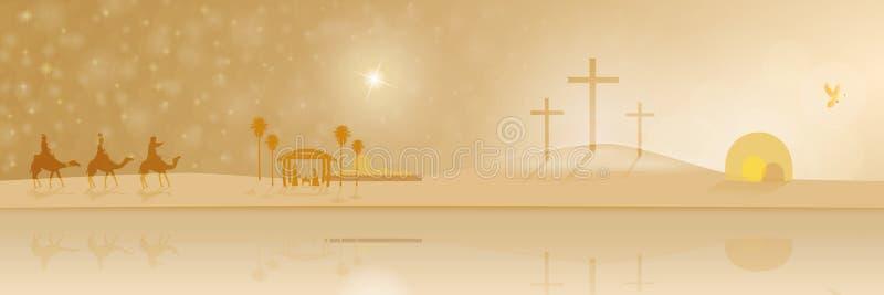 A vida de Jesus ilustração stock