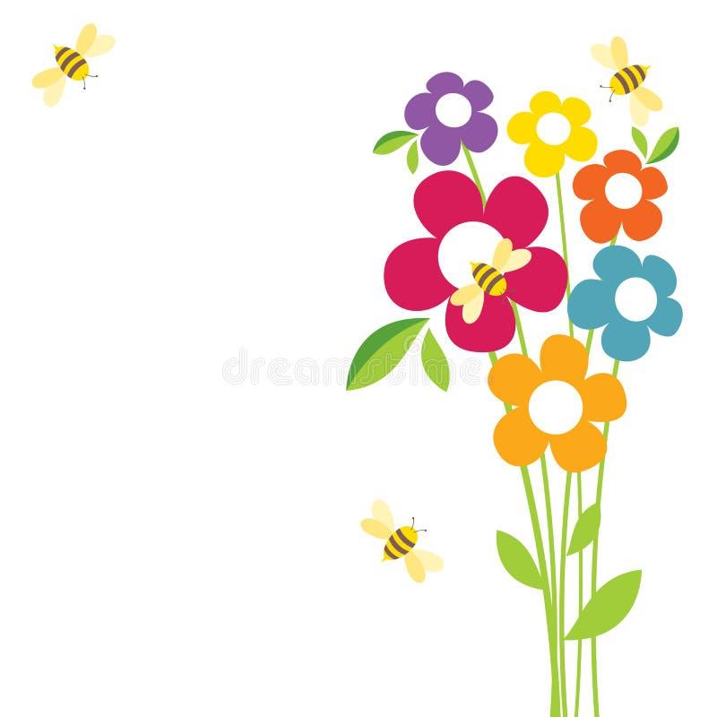 Vida de la abeja stock de ilustración