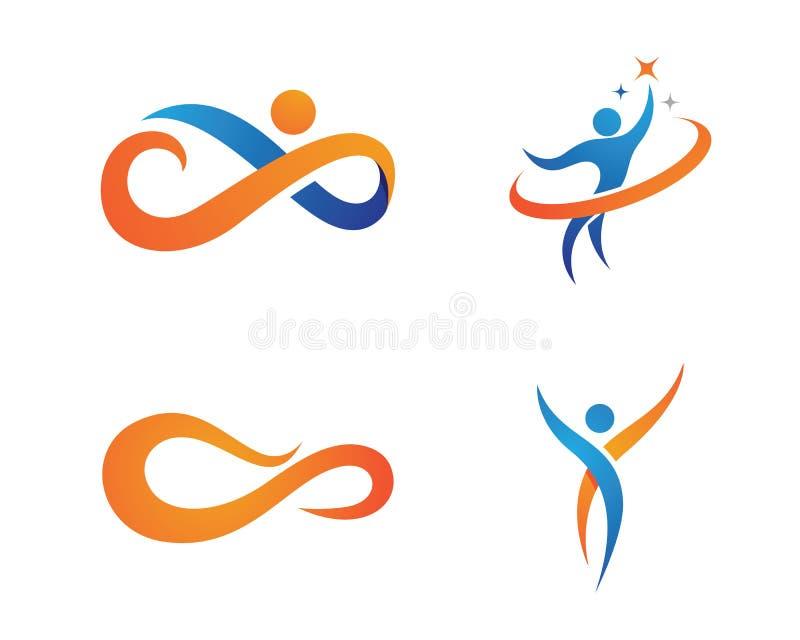 Vida de la salud y logotipo de la diversión ilustración del vector