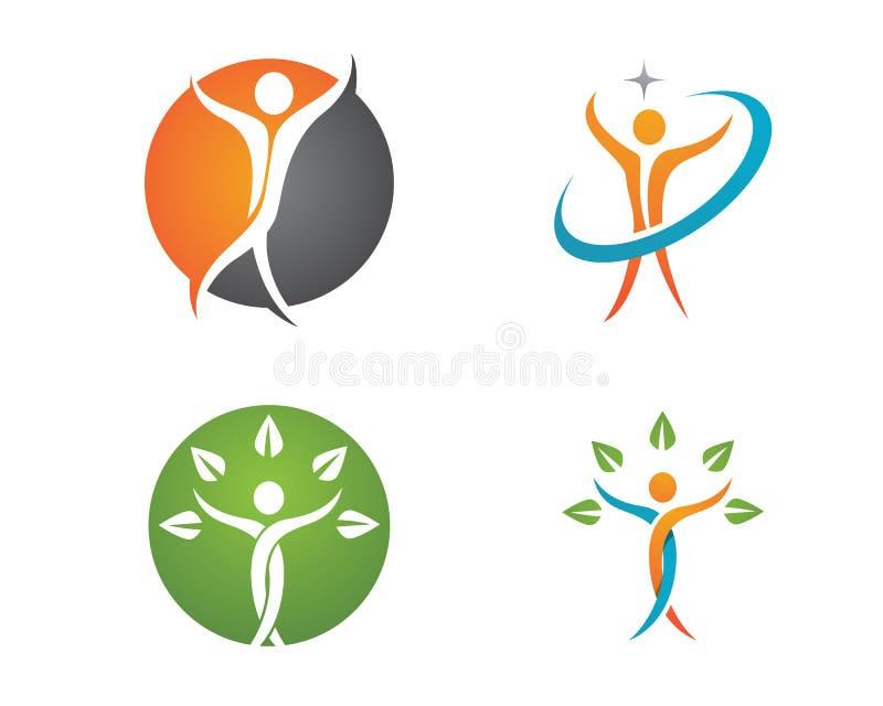 Vida de la salud y logotipo de la diversión stock de ilustración