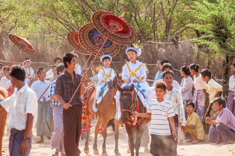 Vida de Myanmar foto de stock