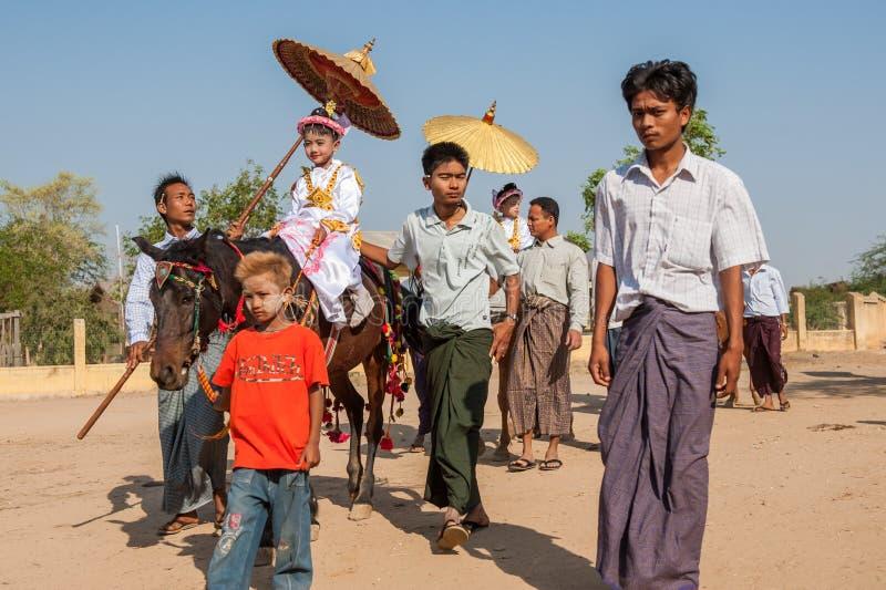 Vida de Myanmar fotos de stock