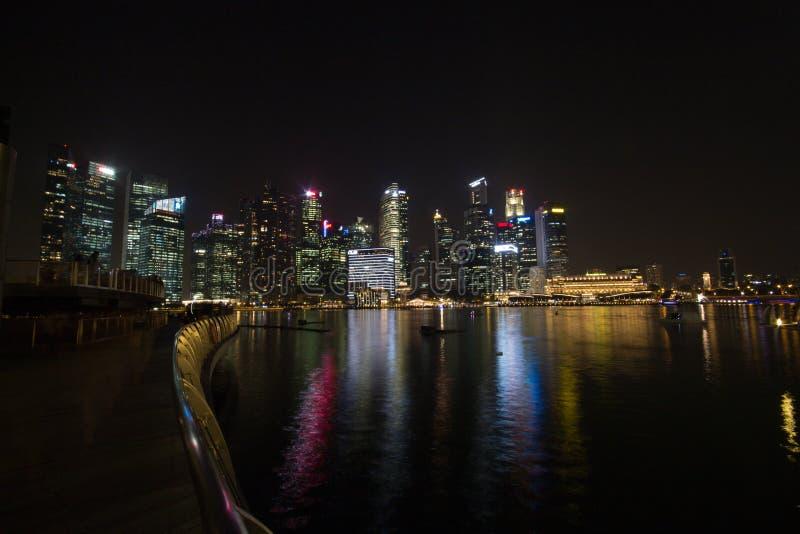 Vida de noche en Singapur fotos de archivo libres de regalías