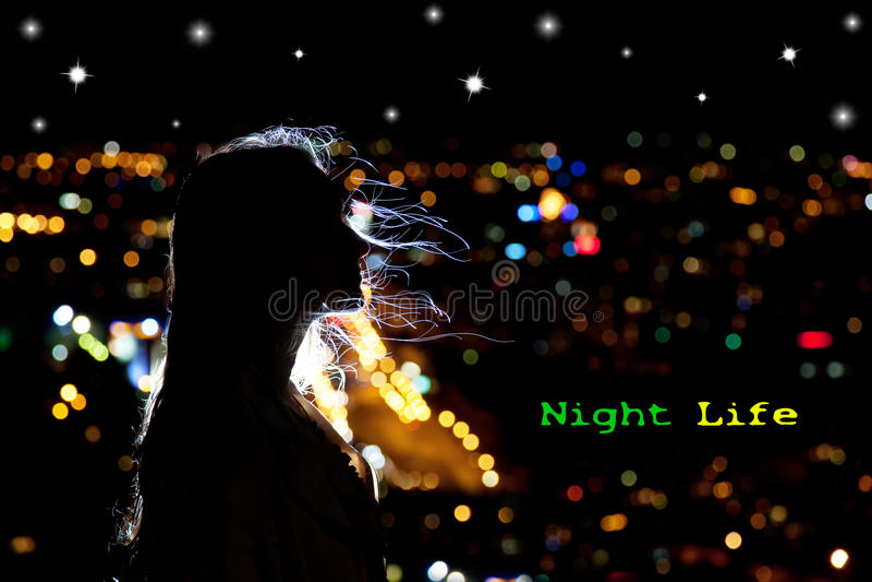 Vida de noite fotografia de stock