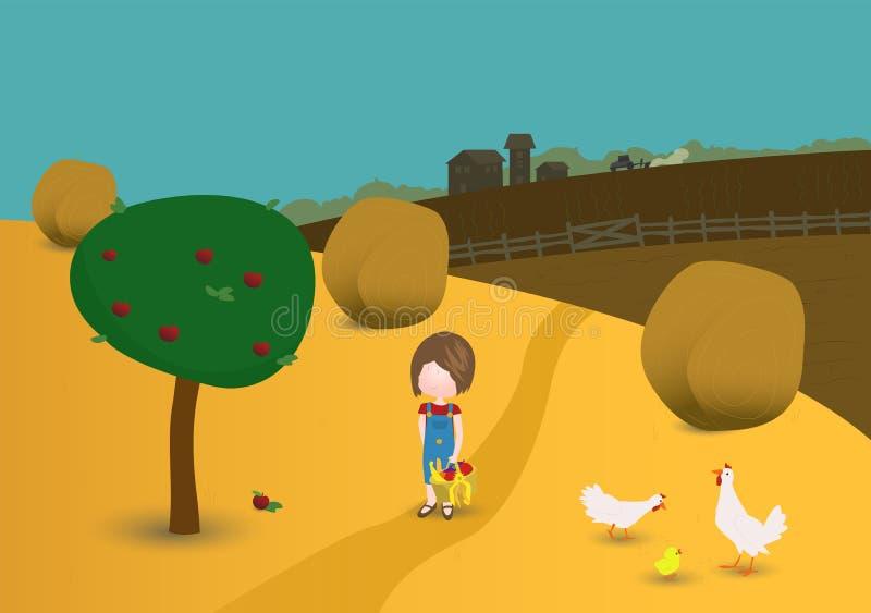 Vida de país ilustración del vector