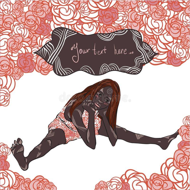 Vida de Rosa ilustração stock