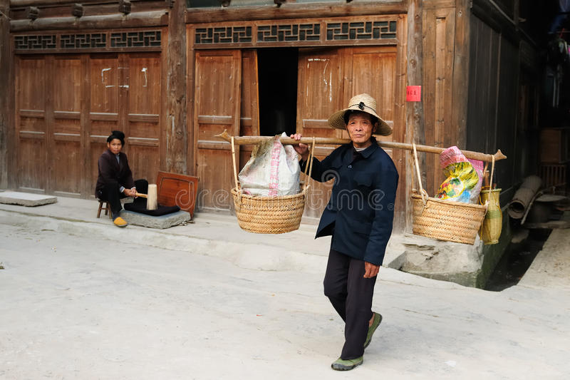 Vida de rua chinesa fotografia de stock