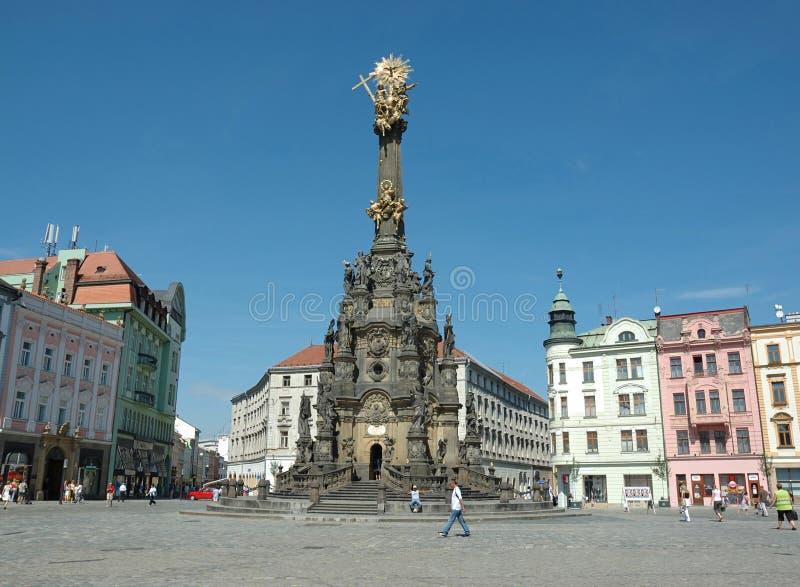 Vida de rua em Olomouc, república checa foto de stock