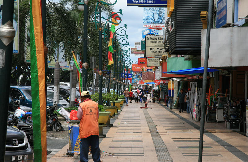Vida de rua em Pekanbaru Indonésia fotografia de stock royalty free