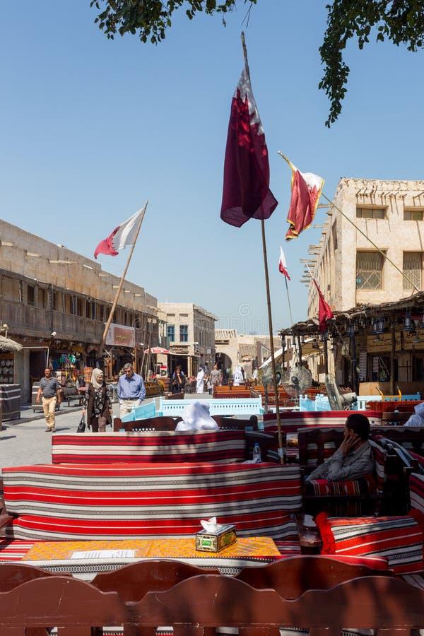 Vida del café en Doha fotos de archivo