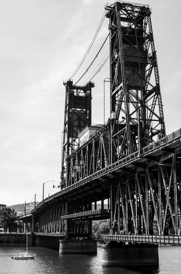 Vida del puente de Portland foto de archivo