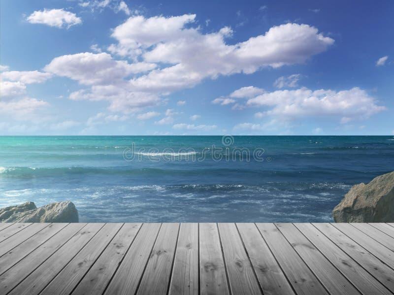 Vida do destilador da praia com passeio à beira mar imagem de stock