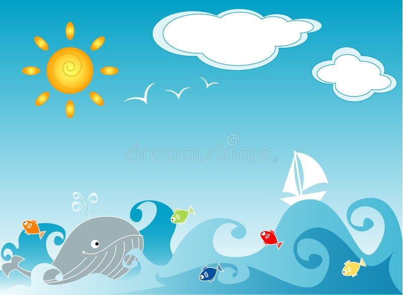 Vida do oceano ilustração do vetor