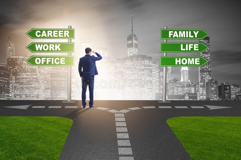 A vida do trabalho ou o conceito home do negócio do equilíbrio ilustração royalty free