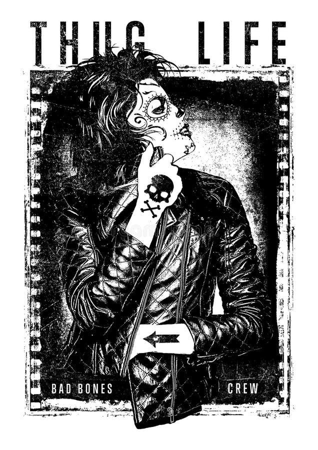 Vida do vândalo ilustração do vetor