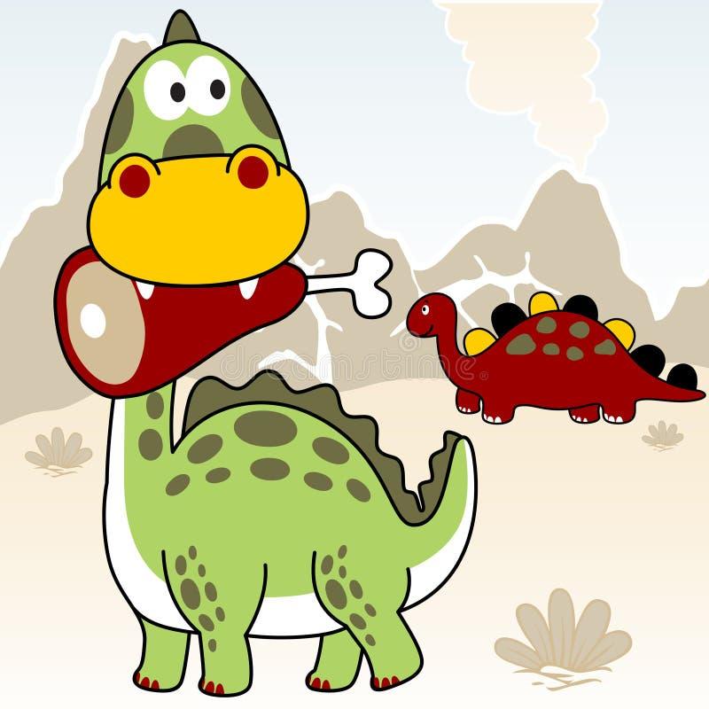 Vida dos dinossauros ilustração stock