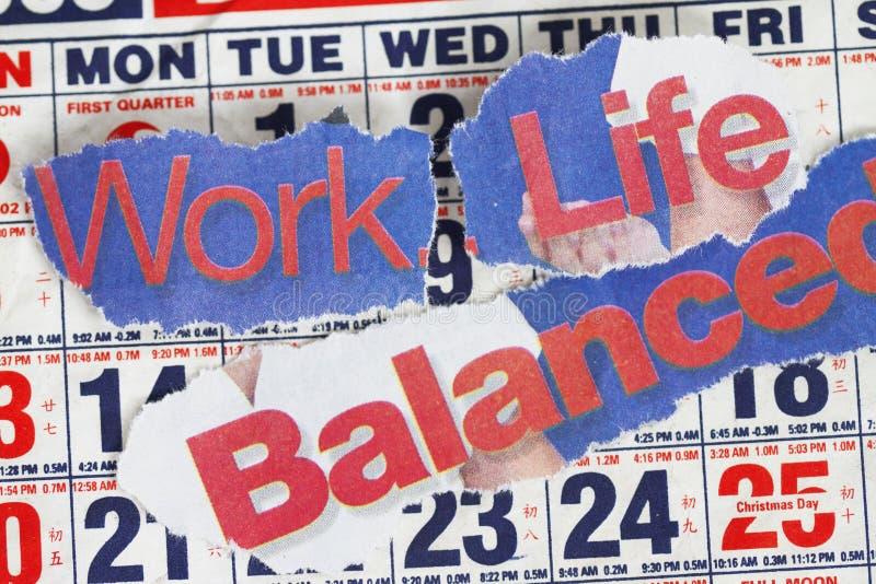 Vida e balanço do trabalho fotografia de stock royalty free