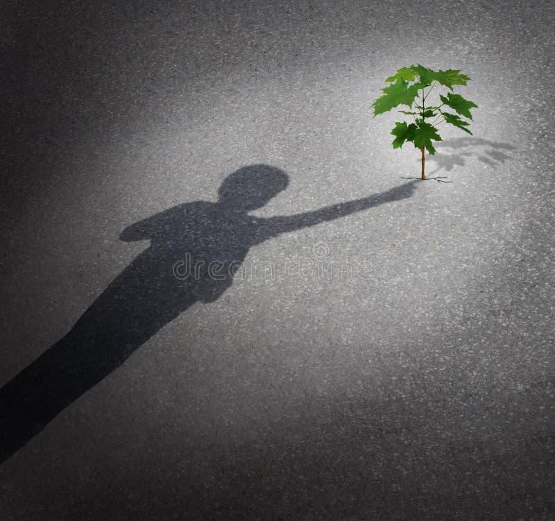 Vida e esperança ilustração do vetor