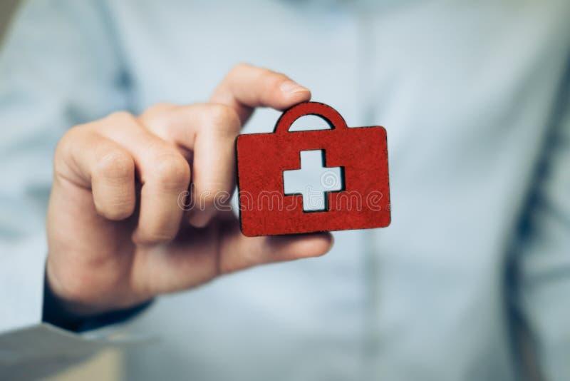 Vida e idea del concepto de la política del seguro médico fotografía de archivo