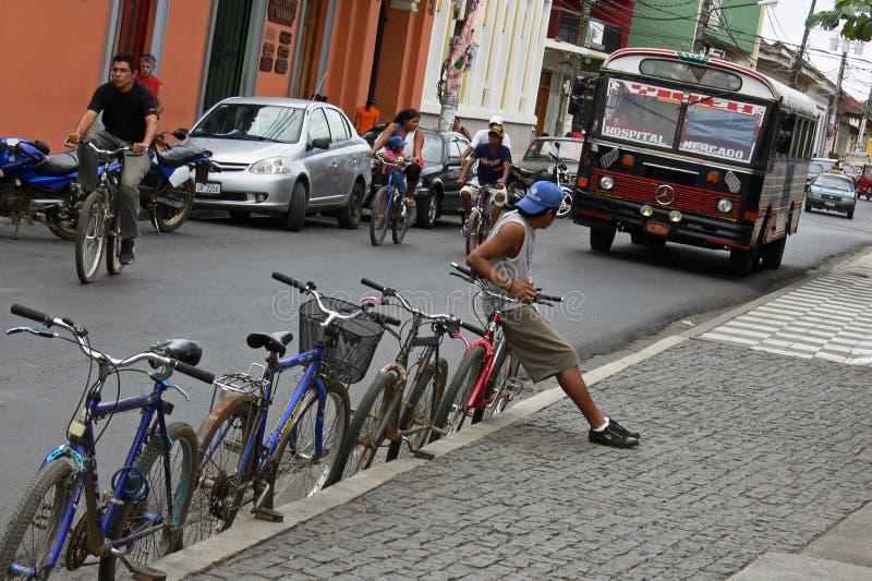 Vida em Granada Nicarágua imagens de stock