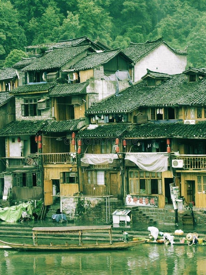 Vida en la ciudad China de Phoenix fotografía de archivo