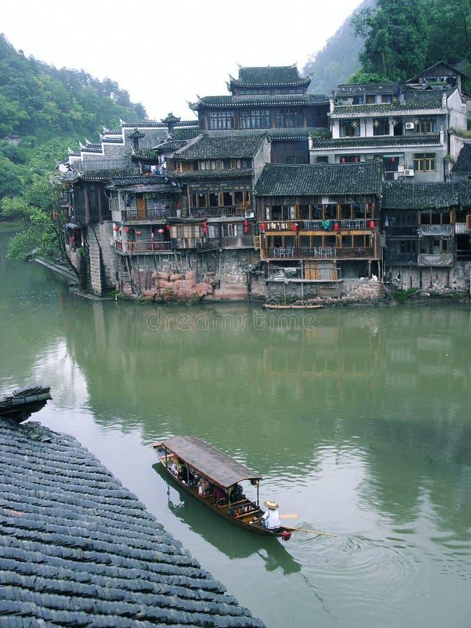 Vida en la ciudad China de Phoenix foto de archivo