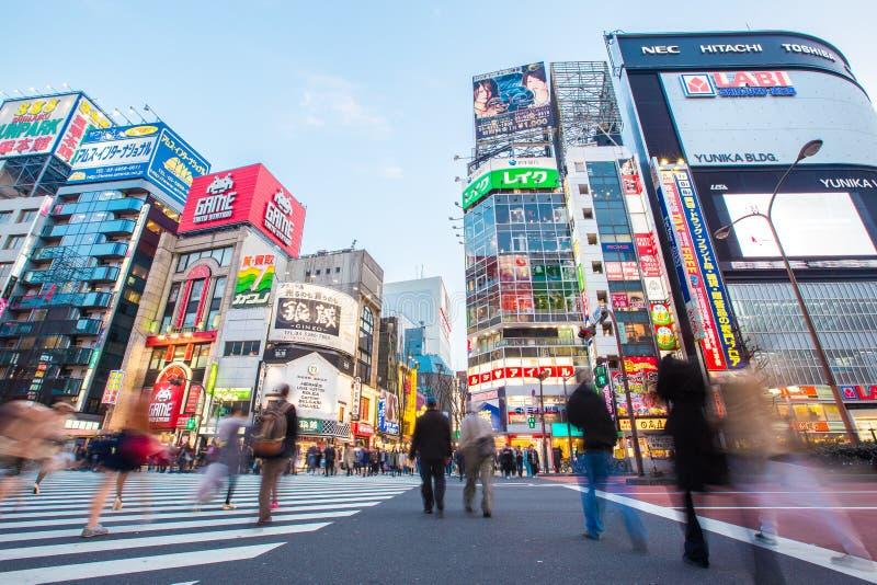 Vida en las calles en Shinjuku imágenes de archivo libres de regalías