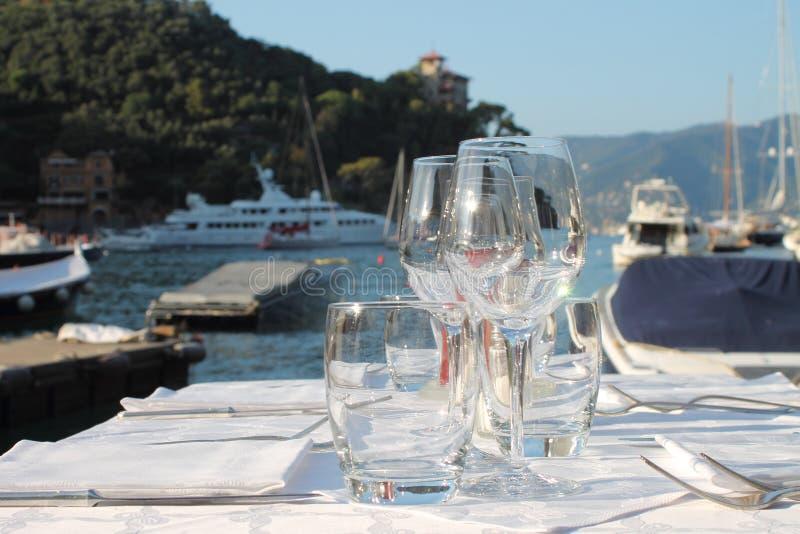 Vida en Portofino imagenes de archivo