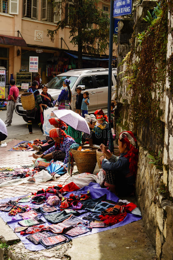 Vida en Sapa-Viet Nam imagen de archivo libre de regalías