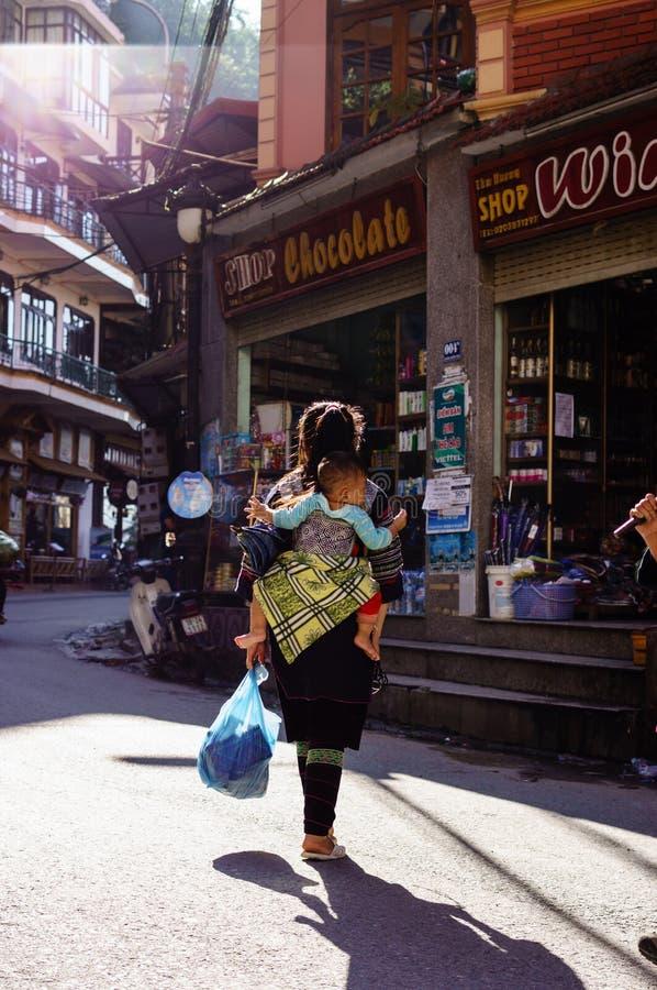 Vida en Sapa-Viet Nam imagenes de archivo