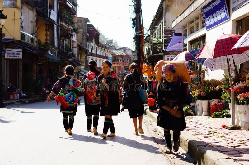 Vida en Sapa-Viet Nam imagen de archivo