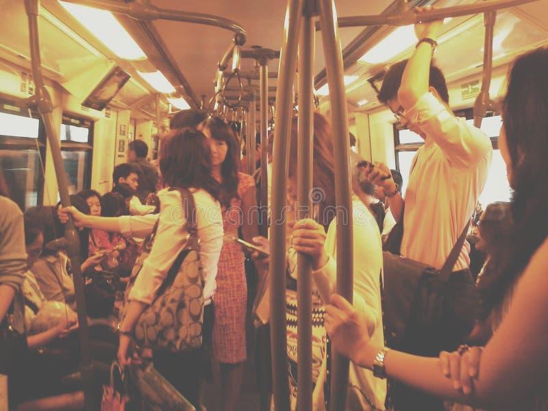 Vida en Skytrain fotos de archivo