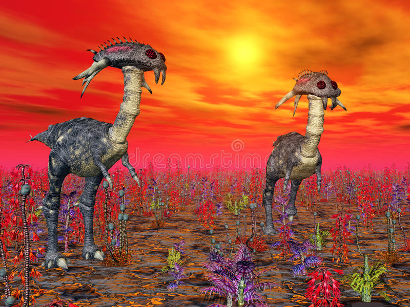 Vida extraterrestre ilustração royalty free