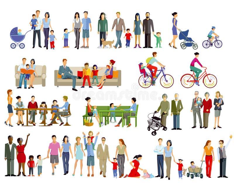 Vida familiar y generaciones libre illustration