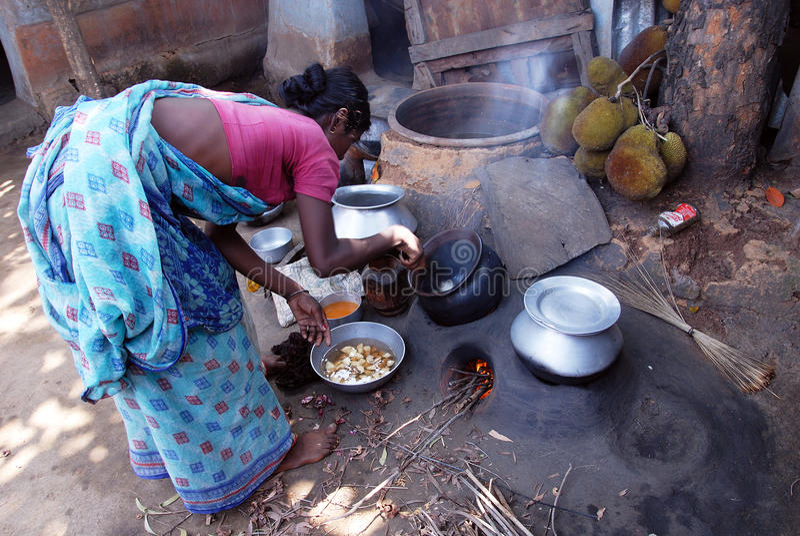 Vida indiana da vila fotos de stock