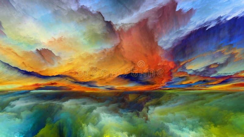 Vida interna da paisagem abstrata ilustração royalty free