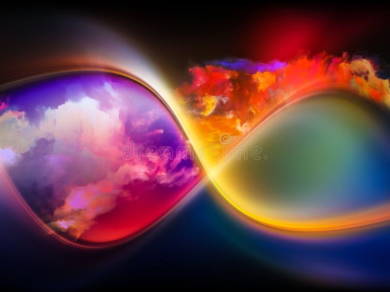 Vida interna das cores imagem de stock