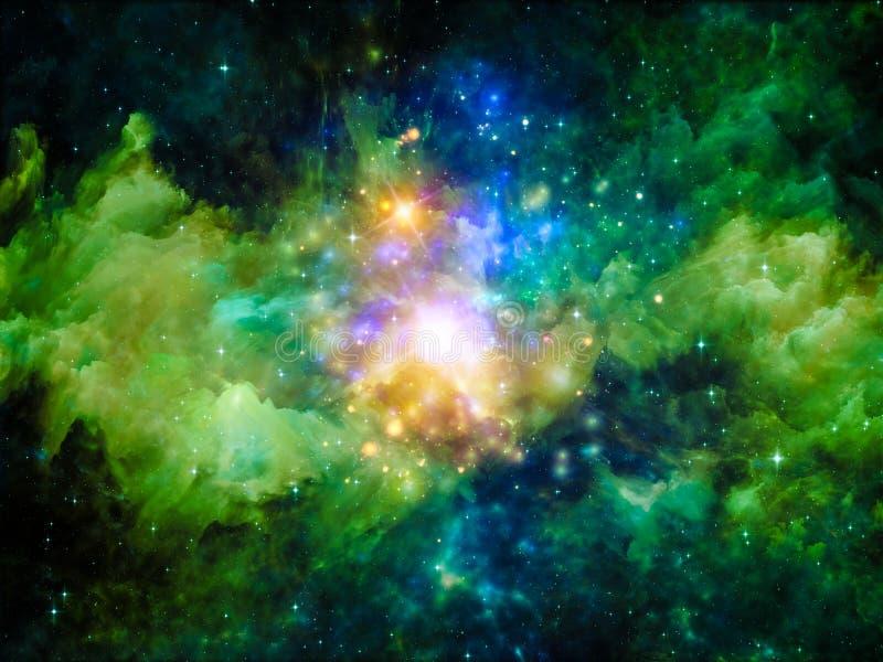 Vida interna de la nebulosa libre illustration