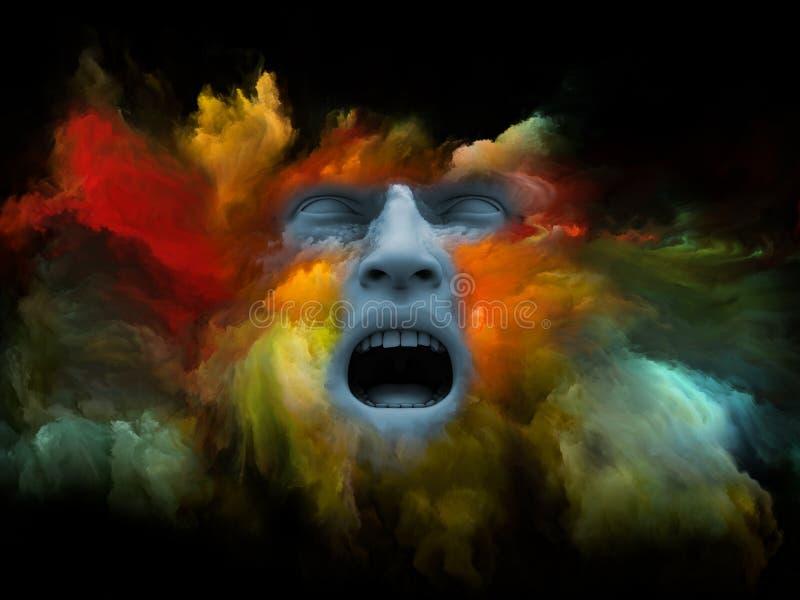 Vida interna del sueño pintado ilustración del vector