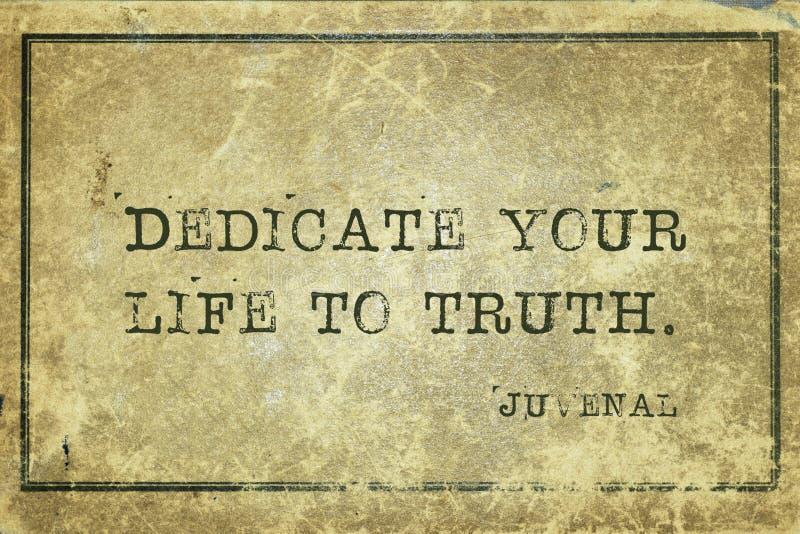 Vida a la verdad Juvenal fotografía de archivo