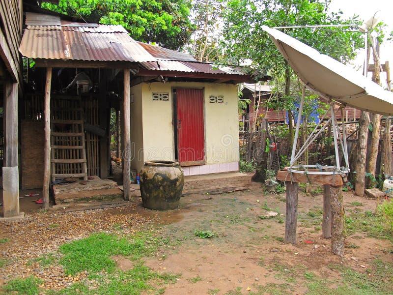 Vida local en Laos foto de archivo