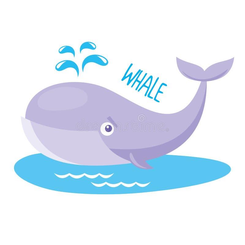 Vida marinha baleia ilustração royalty free