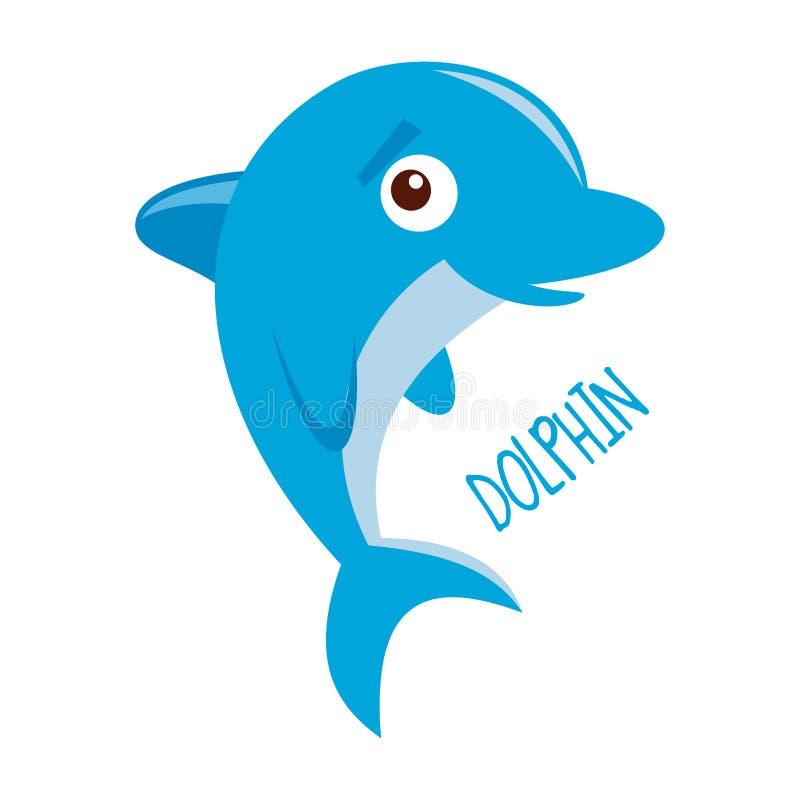 Vida marinha golfinho ilustração royalty free