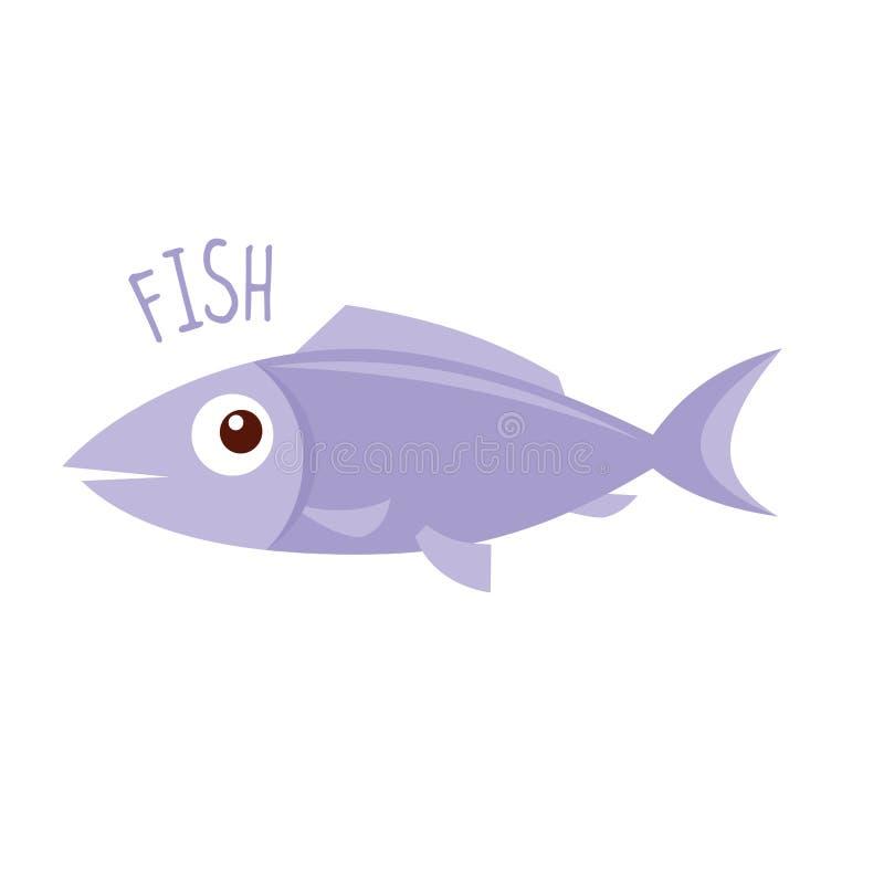 Vida marinha Peixes ilustração stock