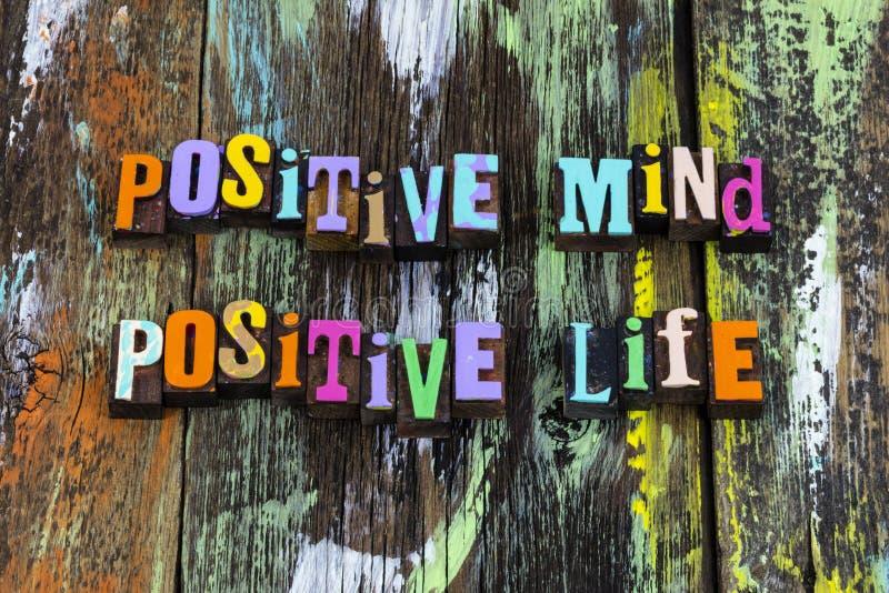 A vida mental positiva vibe a atitude boa bondade frase tipografia imagem de stock royalty free