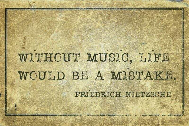 Vida Nietzsche da música foto de stock