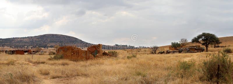Vida no campo no noroeste, África do Sul imagens de stock