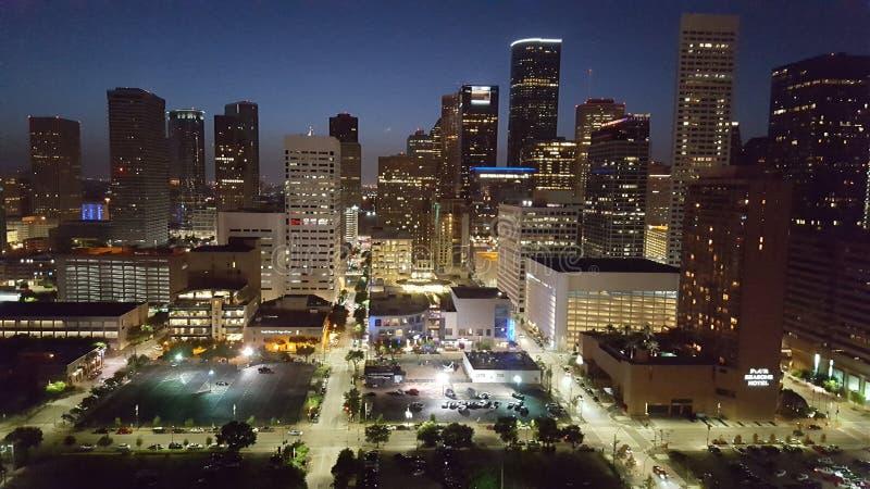 Vida nocturna de Houston imagen de archivo