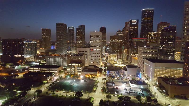 Vida nocturna de Houston foto de archivo libre de regalías