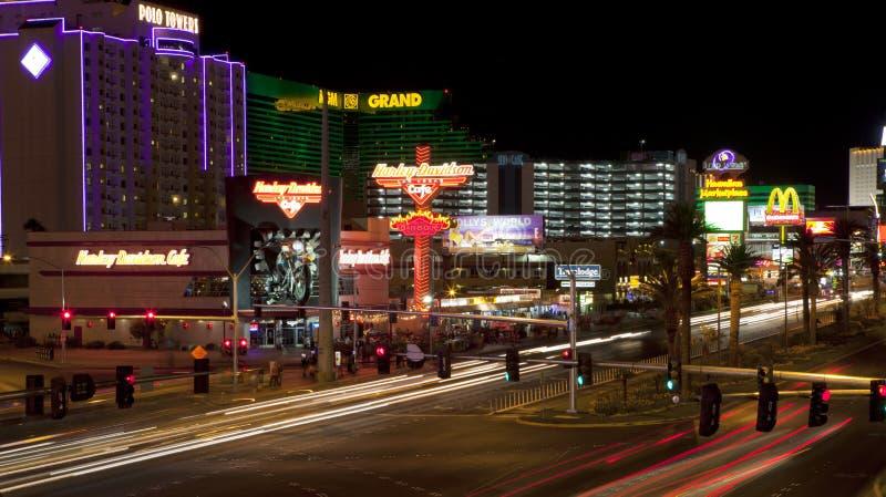 Vida nocturna de Las Vegas fotos de archivo libres de regalías